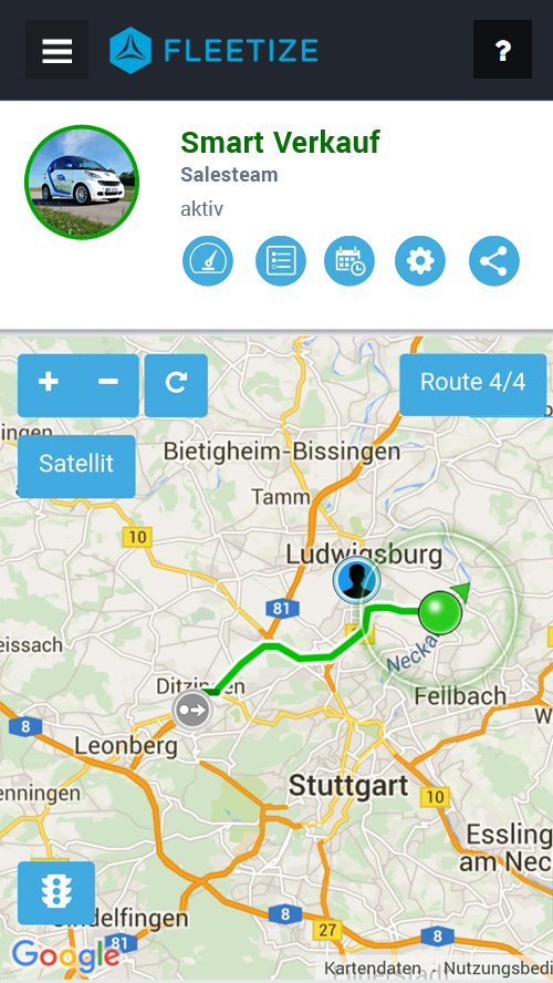 Fleetize-Dashboard - Vehicle-Tracking