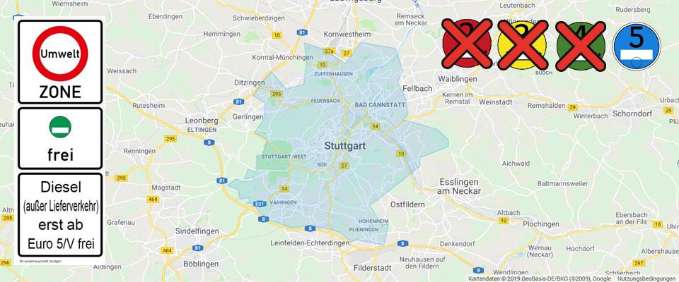 Fahrverbot Stuttgart Karte.Stuttgart Die Erste Blaue Umweltzone Mit Fahrverboten In